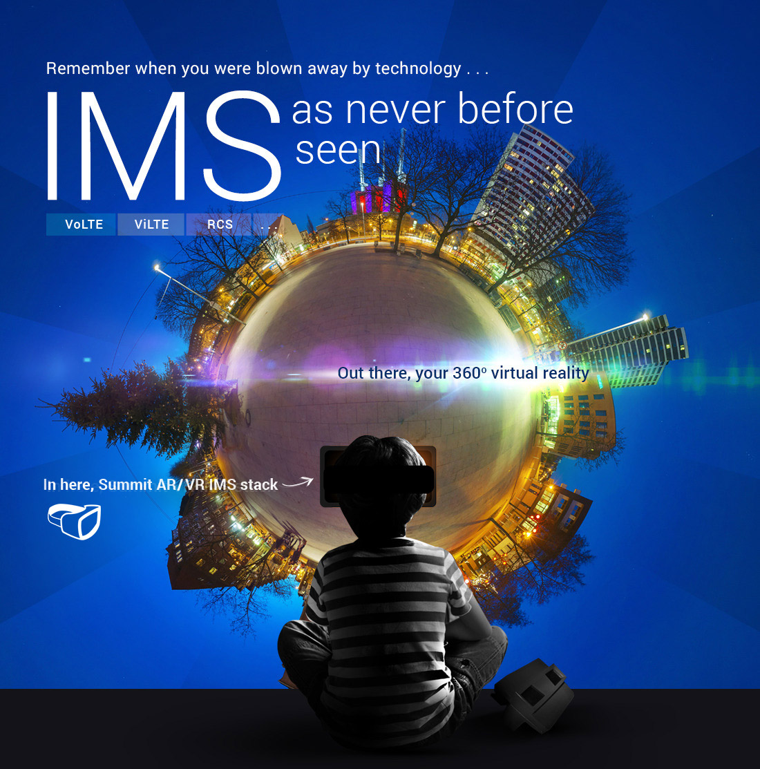 Remember when you were blown away by technology... IMS as never before seen. Out there you 360 degree virtual reality - In here, Summit VR IMS stack